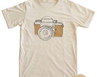 Vintage Camera 70's T-shirt 100% Organic Cotton