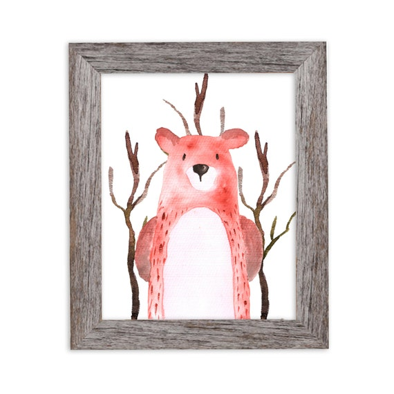 Bear Art Print 8x10 Watercolor Bear Woodland Nursery Decor, Forest Nursery, Woodland Nursery Wall Art Print, Kids Room Art, Boys Room Art,