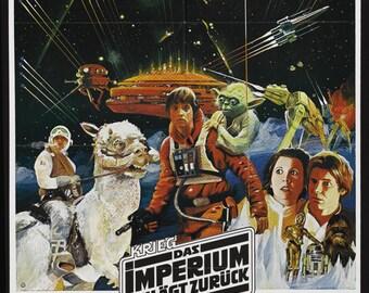 Empire Strikes Back - German Variant Poster - Art Print