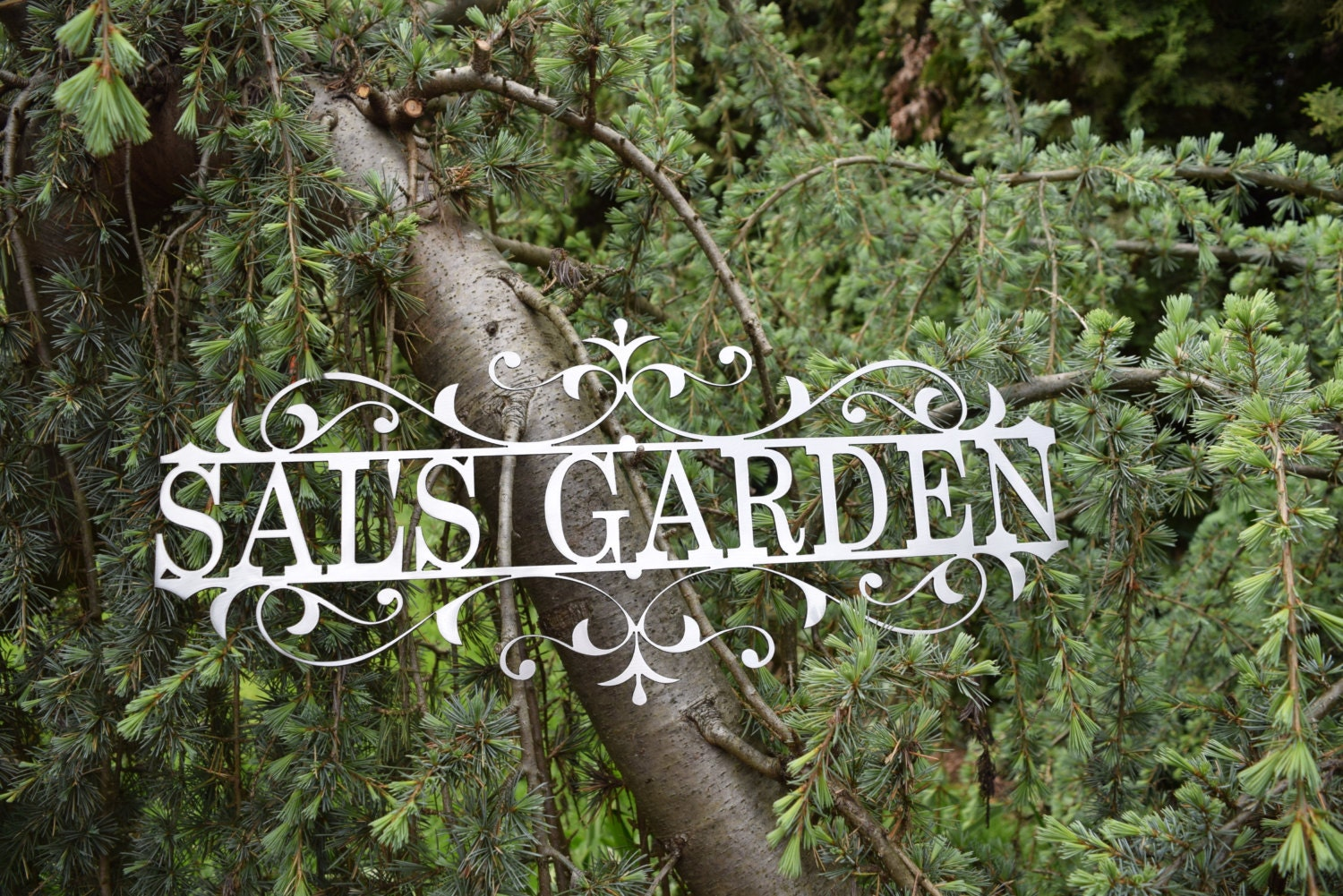 Custom Metal Garden Sign Custom Metal Name Sign Custom metal