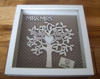 Personalised Wedding Gift, Box Frame Picture