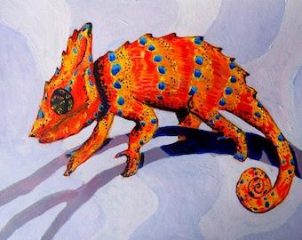 I like being orange (psychedelic, trippy, chameleon)