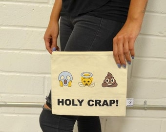 Pouch- Emoji Story Holy Crap