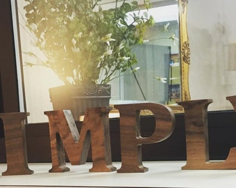 Wood Letters - Free Standing Wooden Letters