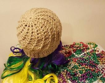 Handmade Crochet Swirl Beanie