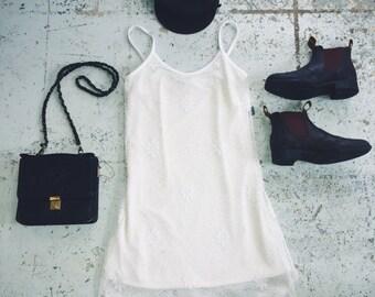 White 90s Mini Dress