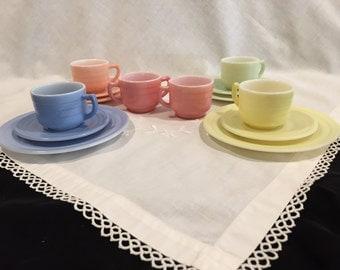 Hazel Atlas Little Hostess Child's Tea Set- 1952 - Moderntone
