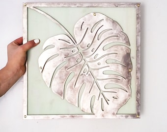 Bungalow style philodendron monstera Boho Palm