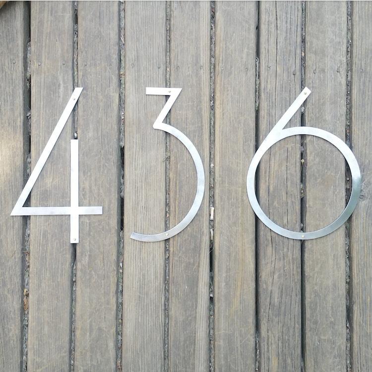 12 Mid Century Modern House Numbers by TimberAndOreStudios ...