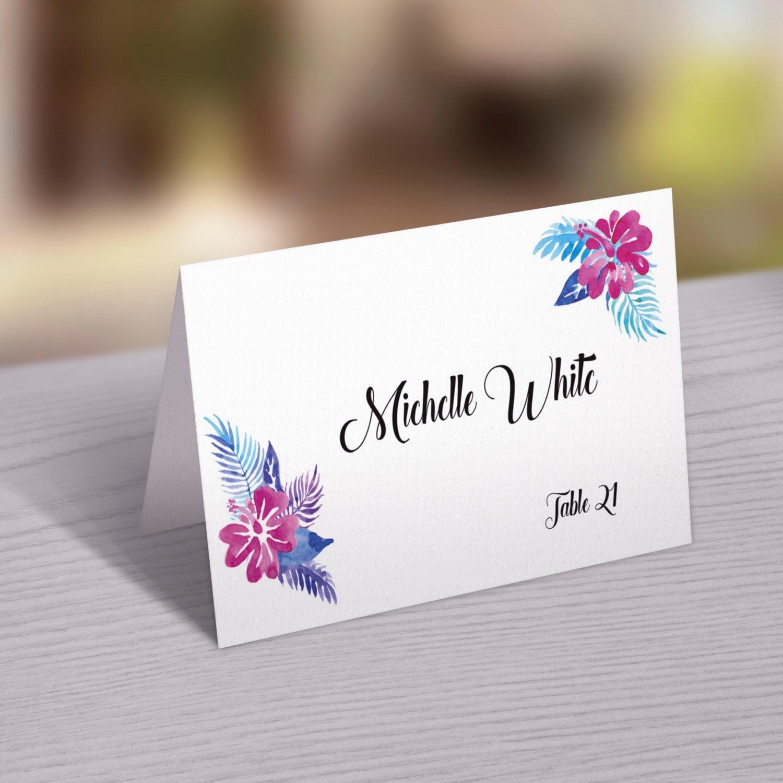Wedding place card template printable wedding place cards for Place cards for wedding