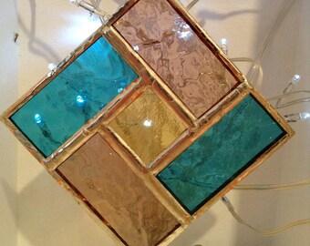 Stained Glass Geometric Suncatcher