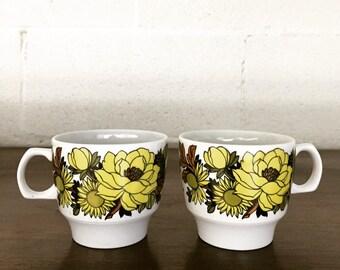 Adorable Set of Vintage Mugs