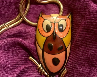 Vintage Signed Eisenberg Owl Necklace