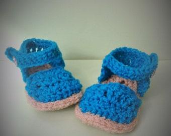 Crochet Baby Pastel Espadrilles Shoes