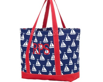 Boy's Beach Bag/ Pool Bag/ Monogrammed Tote/ FREE MONOGRAM