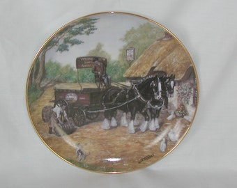 "Dick Twinney ""The Delivery"" Collectible Plate Magnificent Shires Collection"