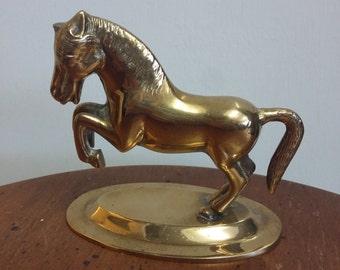 VINTAGE Brass Horse Ornament - Brassware - Collectible