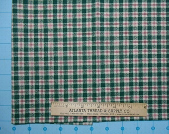 Red and Green Plaid Cotton Fabric Fat Quarter 18 X 22