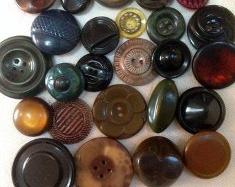 Vintage Celluloid Buttons. Deco. Lot 2