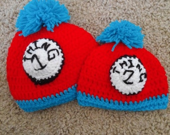 Thing 1 and Thing 2 Beanies