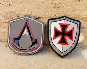 Assassin's Creed PVC Infrared Patch Set - Knight's Templar