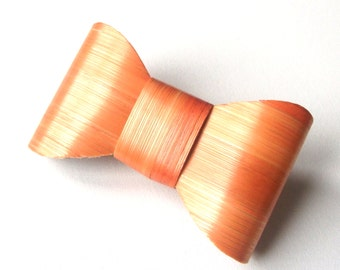 Barrette bowtie straw orange