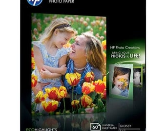 """HP CH097A Everyday Glossy Photo Paper (5.0 x 7.0"""", 60 Sheets)"""