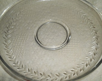 Fostoria Holly Cut - Clear Lily Pond Bowl or Float Bowl ~ Vintage