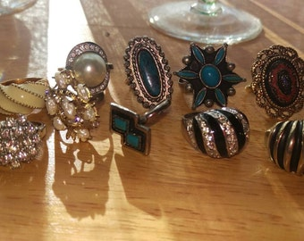 For so long, You and me. Vintage ring assortment