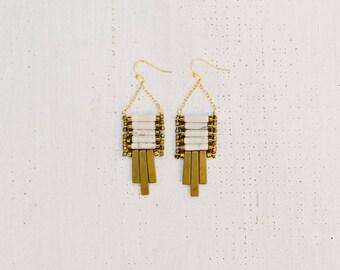 Howlite Ladder Earrings
