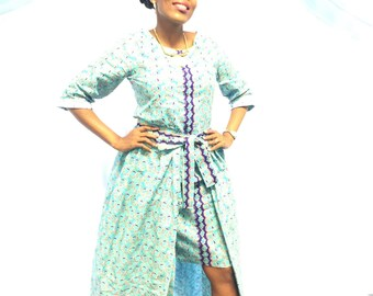 Two piece African Print dress