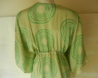 beach dress in green rayon
