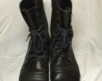 Steve Madden Combat Boots- Black
