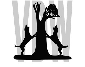 coon dogs hunting Cutting Files Silhouette SVG, DXF and EPS vinyl cut Files, for Cameo and Cricut Explore machines