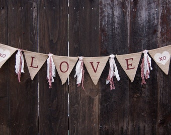 Love Banner, Wedding Banner, Rustic Wedding, Country Wedding, Rustic Banner, Country Banner, Burlap Banner, Custom Banner, Photo Prop