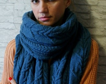 Oversized Wool Scarf. Long Wool Scarf. Wool Blanket Scarf. Chunky Scarves