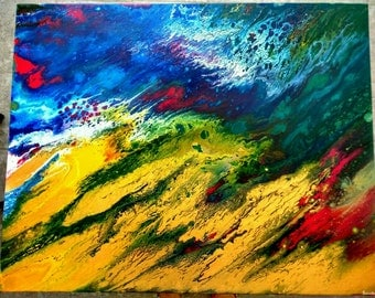 "Abstract Acrylic Painting ""Succession - Continuation of Colors"""