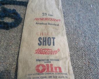 canvas 25 lb shell shot  bag