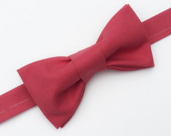 Coral Bow tie, Men's Coral Bow tie, Coral Bowtie, Kid's Coral Bow tie, Baby Coral Bow tie, Pre-tied Coral Bow tie, Beach Wedding Bowtie
