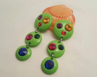 Vintage Plastic Dangle Earrings