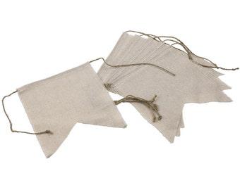 Hand cut Linen Banner