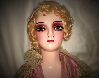 1920s Boudoir Bed Doll **FREE SHIPPING**
