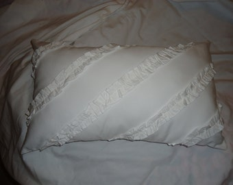 Shabby Chic Ivory Ruffle Boudoir Cushion Cover (1)