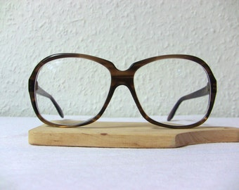 Oversized Vintage Heavy Eyeglasses Frame as NEW Papillion Eye Glasses Men Tortoise Brown FREE SHIPPING Large Size His Him Rockabilly Prop