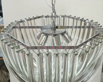 Ottaginale glass triedo glass CHANDELIER vintage murano glass handmade