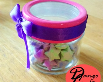 Lucky Stars Jar (Purple Ribbon)