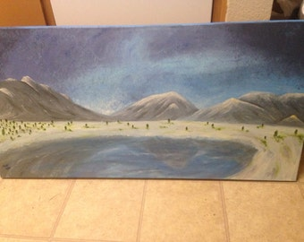 Mountain Oil Painting