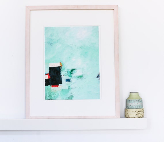 Abstract Art Painting - mint green painting
