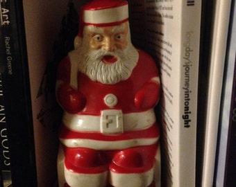Vintage sitting light up Santa