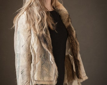 recycled fur jacket